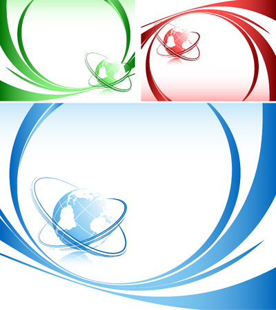 global background: abstract   backgrounds with globe and lines Illustration