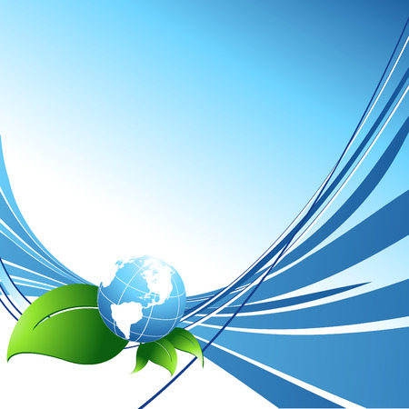environmental protection: vector environmental background with globe and copy space.