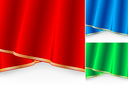 vector set of shiny curtains. Elements for your design Vector