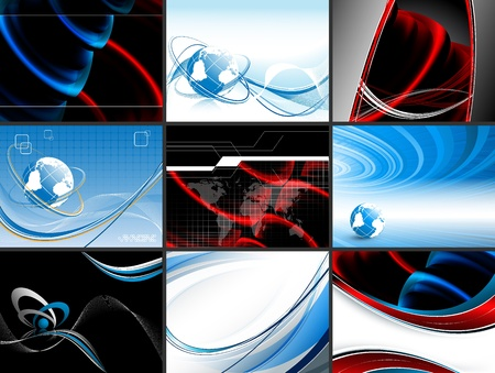 abstract modern vector backdrops set. Elements for your design. Eps10 Stock Vector - 10066727