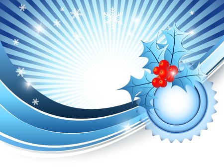 elegant background with snowflakes and decoration. Eps10