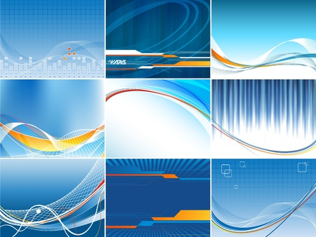 abstract  vector backgrounds set in blue colors. Eps10