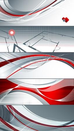 bright vector corporate templates. Elements for design. Set. Eps10 Illustration