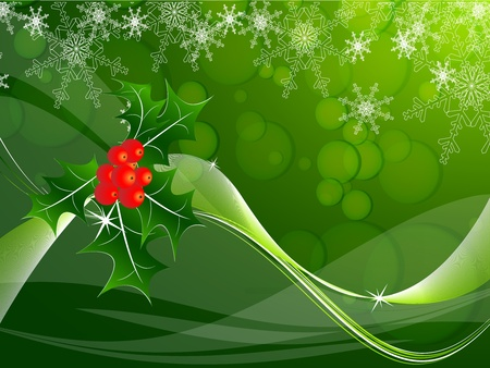 hristmas: elegant vector background with snowflakes and decoration.