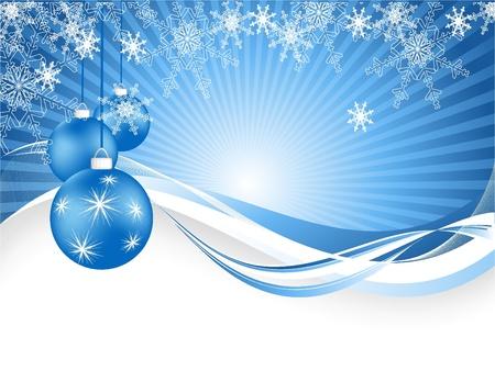 elegant vector: vettore sfondo elegante con fiocchi di neve e la decorazione.
