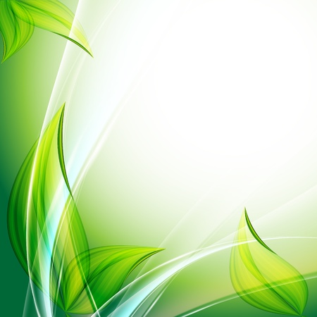 green leaf: beautiful abstract floral vector background. Eps10