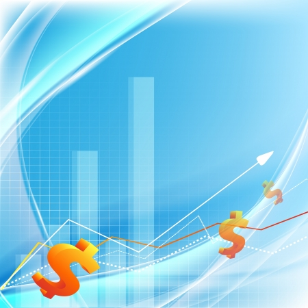 abstrac growth statistic financial frame Vector