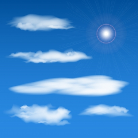 clouds making: bright vector sky elements set. Eps10