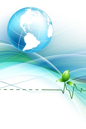 green earth: environmental  concept background with globe.