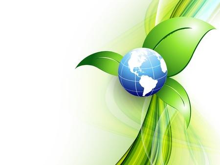 smooth curve design: environmental vector concept Illustration