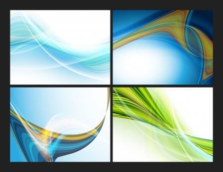 colorful modern templates set with copy space