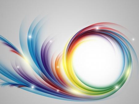 colorful vector rainbow backdrop with copy space. Eps10