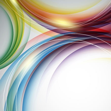 swirls vector: colorful vertical vector template with swirls.