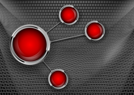 vector background with web buttons Illustration