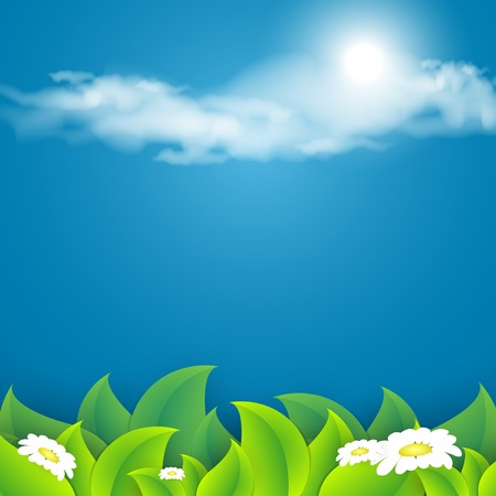 Vector abstract summer time background with copy space.  Vector
