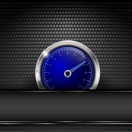 vector background with metallic texture and speedmeter. Eps10 Vector