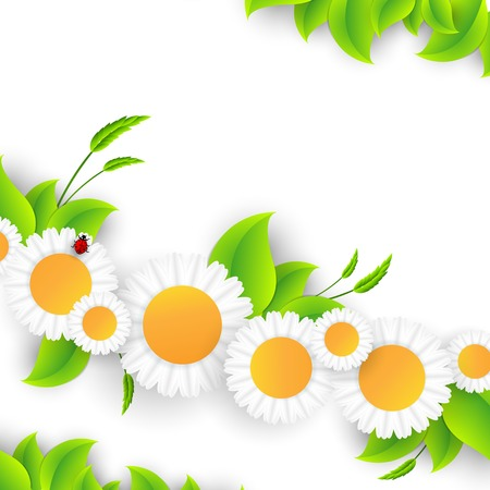 Vector abstract summer time background with copy space. Eps10 Vector