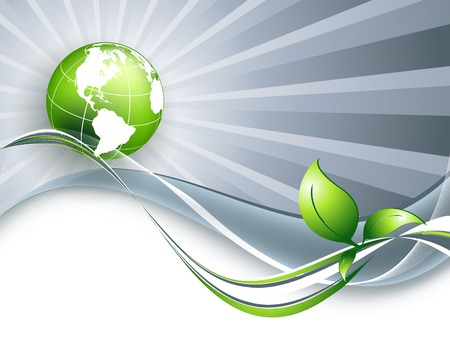 eps10 vector: abstract environmental vector background with globe. Eps10