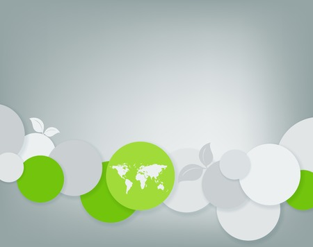 abstract environmental vector background with world map. Eps10 Vector