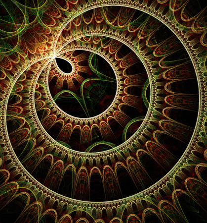 Computer generated fractal artwork for design, art and entertainment