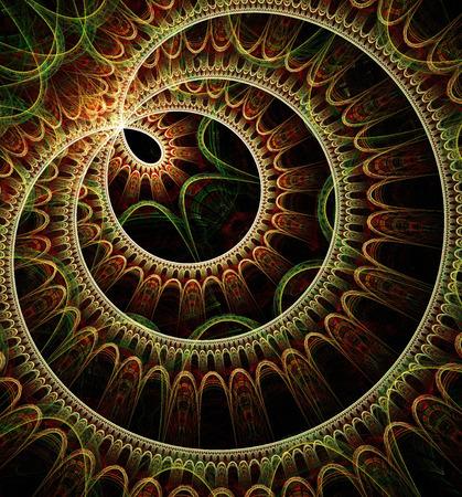 Generado por ordenador arte fractal para el diseño, arte y entretenimiento Foto de archivo - 42138541