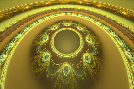 51: 51 shades of gold. Computer generated fractal artwork for design, Stock Photo