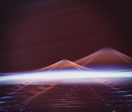 martian: Martian fantasy. Computer generated fractal artwork for design Stock Photo