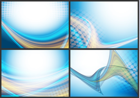 abstract backgrounds: abstract vector backgrounds set  with copy space. Eps10