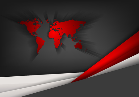 creative beauty: abstract vector background with world map and copy space. Eps10 Illustration