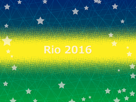 olimpic: Wellcome to Rio 2016. Vector abstract background.