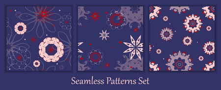 tilable: colorful vector seamless patterns set. Elements for your design.