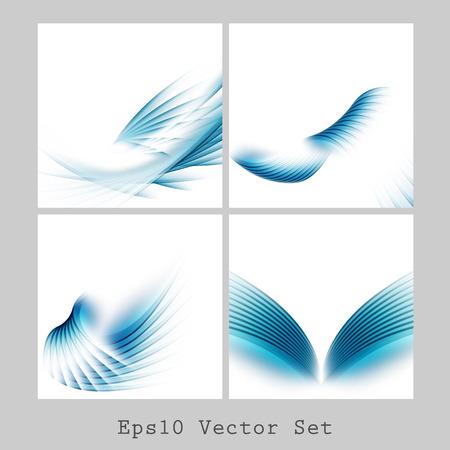 azules abstractos de vector se establece. Elementos para su diseño.