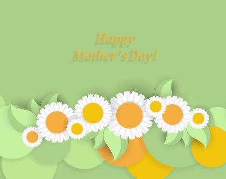 festive: Happy Mothers Day. Festive Holiday Illustration.