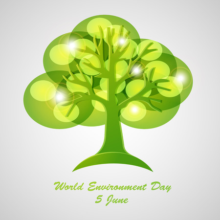 natural energy: World Environment Day concept. Illustration
