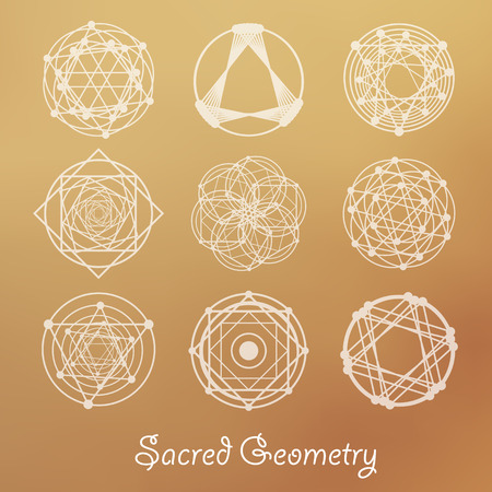Sacred geometry elements for design.
