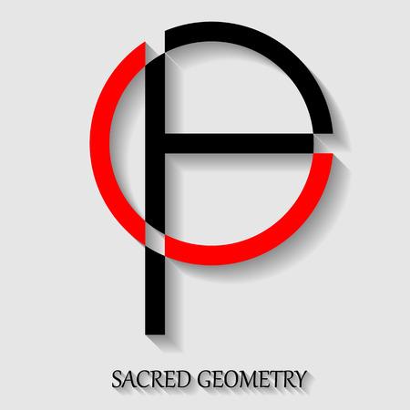 elemento geometria sacra per la progettazione. Alchimia, religione, filosofia, spiritualità, simbolo pantaloni a vita bassa