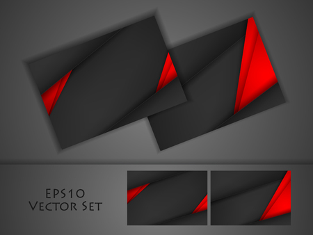 企業の明るいビジネス カードのセットをベクトルします。設計のための Elments。Eps10 写真素材 - 56918072