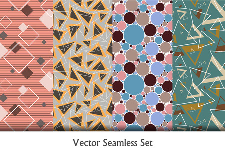 retro patterns: colorful vector seamless patterns set. Elements for your design. Geometric vector seamless retro patterns.