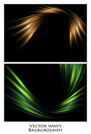 graphic display cards: Bright vector background. Wavy lines, elements for design. Vector elements for presentations, brochures, annual reports.