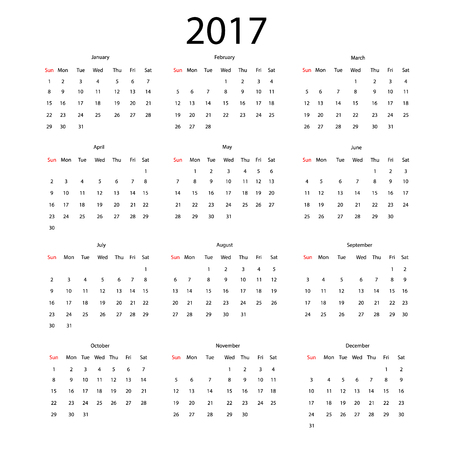calendar september: 2017 vector calendar design. Illustration