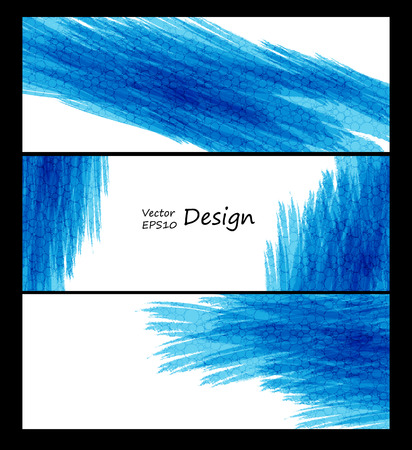 textured backgrounds: Business vector design templates. Blue collection of banners with colored and textured backgrounds. Abstract paint vector decoration. Eps10