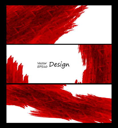 textured backgrounds: Business vector design templates. Red collection of banners with colored and textured backgrounds.
