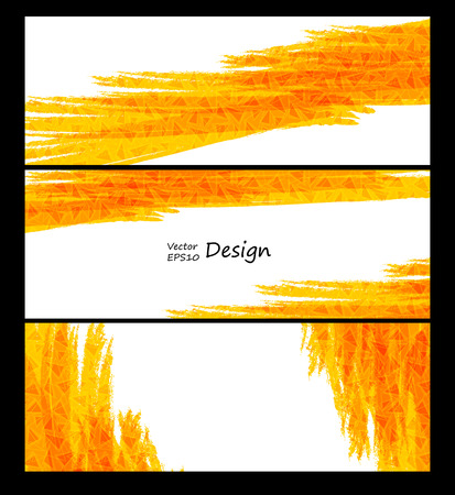 textured backgrounds: Business vector design templates. Yellow collection of banners with colored and textured backgrounds.
