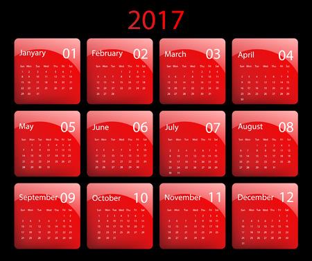 calendar design: 2017 vector calendar design. Illustration