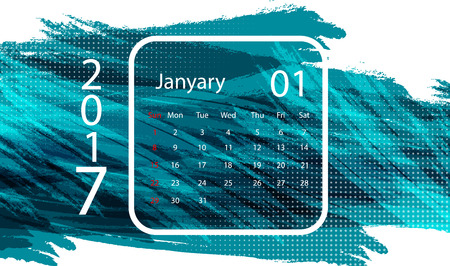 calendar design: 2017  January vector calendar design. Illustration