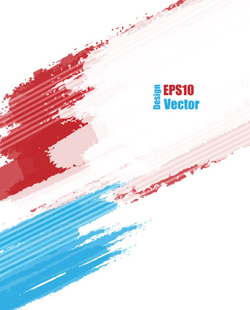 Red and blue grungy vector background. Elements for design.