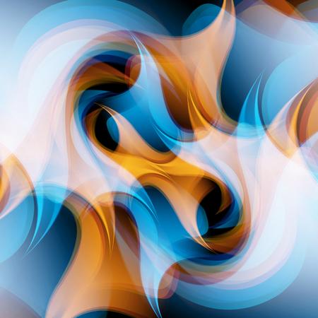abstrakt: Abstract Vector Hintergrund, Wellenlinien für die Broschüre, Website, Flyer Design. Illustration