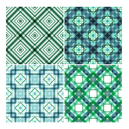 tilable: colorful ethnic seamless patterns set. Elements for your design.