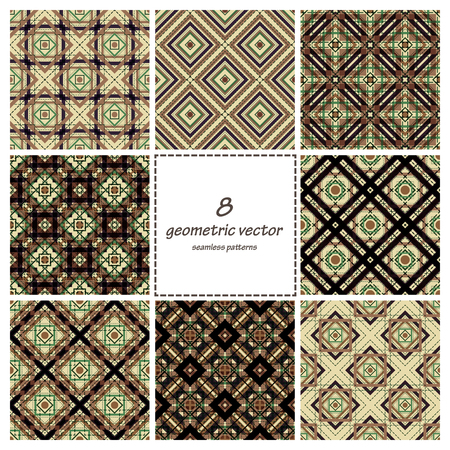 decorative patterns: Geometric vector seamless decorative patterns set. Wrapping, tiling. Vector backgrounds collection. Graphic texture ornaments for design.