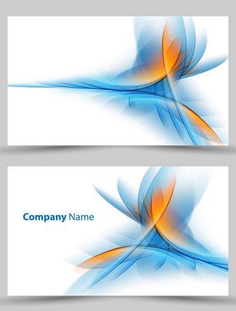 Corporate cards templates in white background. Illustration